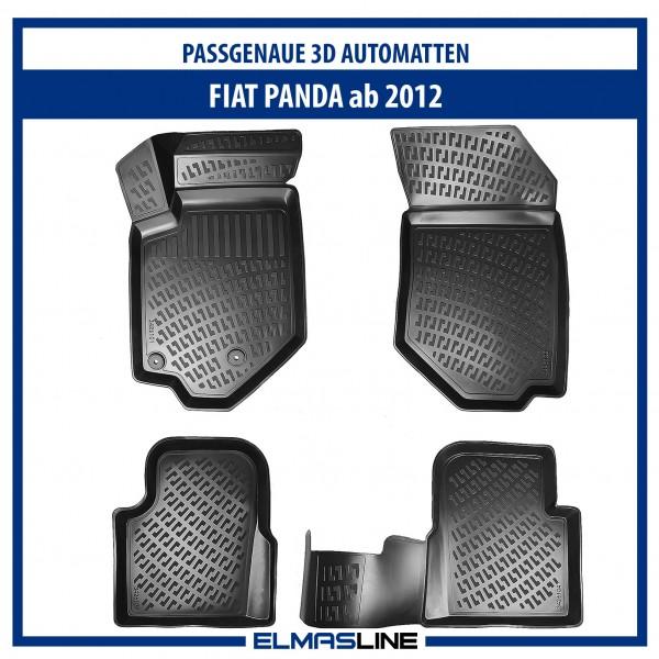 Design 3D Gummimatten Set für FIAT PANDA ab 2012