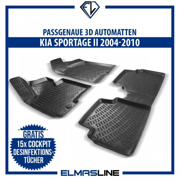 Design 3D Gummimatten Set für KIA SPORTAGE 2 II 2004-2010
