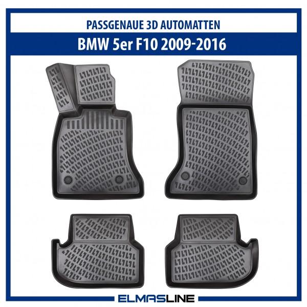 Design 3D Gummimatten Set für BMW 5er (F10) 2009-10/2016
