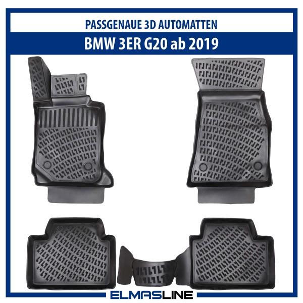 Design 3D Gummimatten Set für BMW 3er G20 ab 2019