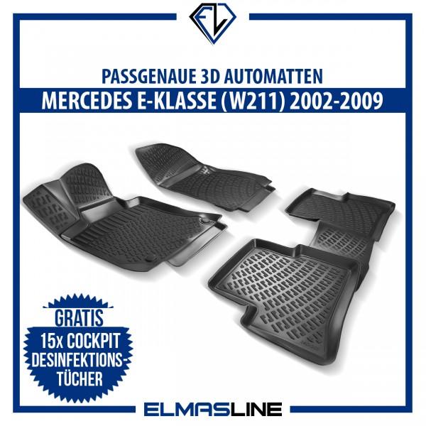 Design 3D Gummimatten Set für MERCEDES E-KLASSE W211 2002-2009