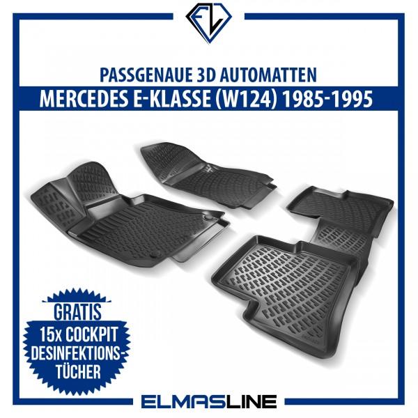 Design 3D Gummimatten Set für MERCEDES E-KLASSE W124 1985-1995