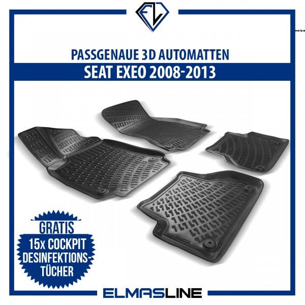 Design 3D Gummimatten Set für SEAT EXEO 2008-2013