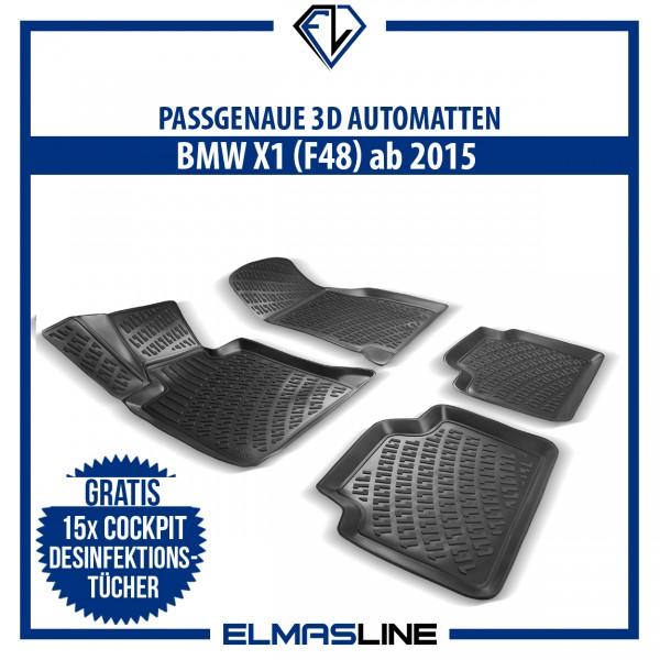 Design 3D Gummimatten Set für BMW X5 (E53) 1999-2006