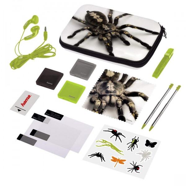 Hama Nintendo 3DS XL Tasche 13in1 Zubehör Paket Spinne Set New Schutz Folie + Stift