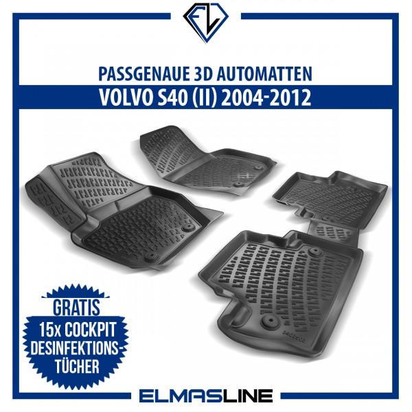 Design 3D Gummimatten Set für VOLVO S40 (II) 2004-2012
