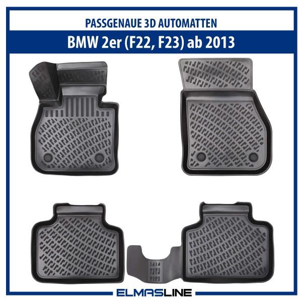 Design 3D Gummimatten Set für BMW 2er ab 2013