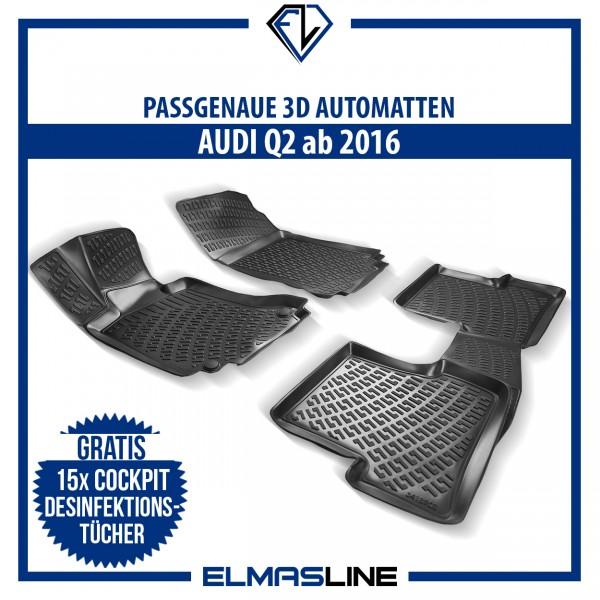 Design 3D Gummimatten Set für AUDI Q2 ab 2016