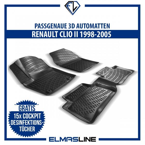 Design 3D Gummimatten Set für RENAULT CLIO II 1998-2005