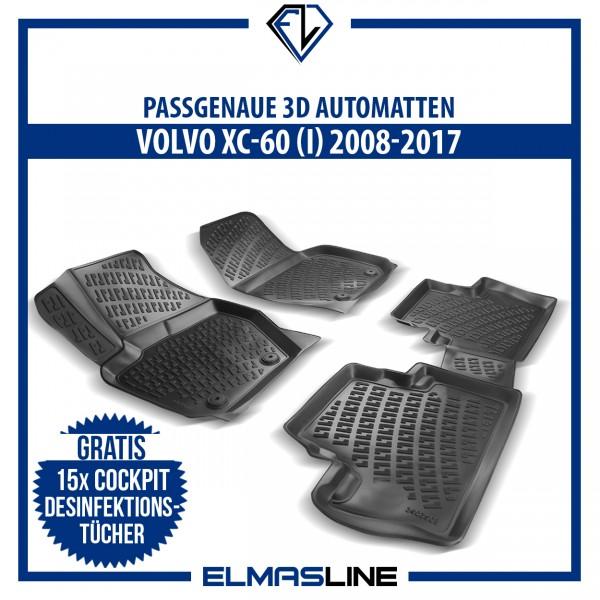 Design 3D Gummimatten Set für VOLVO XC-60 (I) 2008-2017