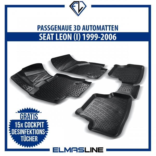 Design 3D Gummimatten Set für SEAT Leon I 1999 - 2006