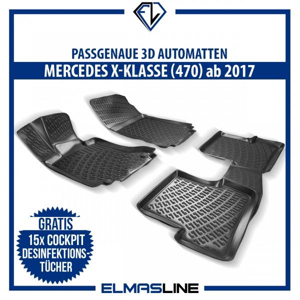 Design 3D Gummimatten Set für MERCEDES X-KLASSE (470) ab 2017