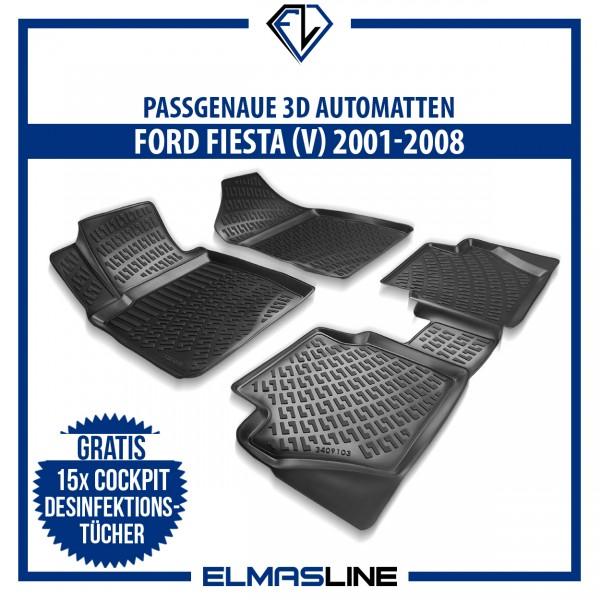 Design 3D Gummimatten Set für FORD FIESTA V 2001-2008