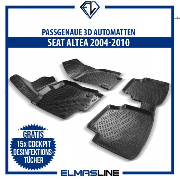 Design 3D Gummimatten Set für SEAT ALTEA 2004-2010