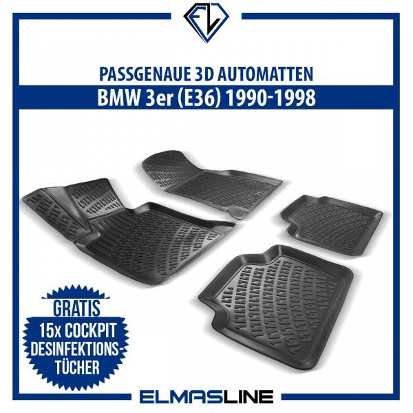 Design 3D Gummimatten Set für BMW 3er E36 1990-1998