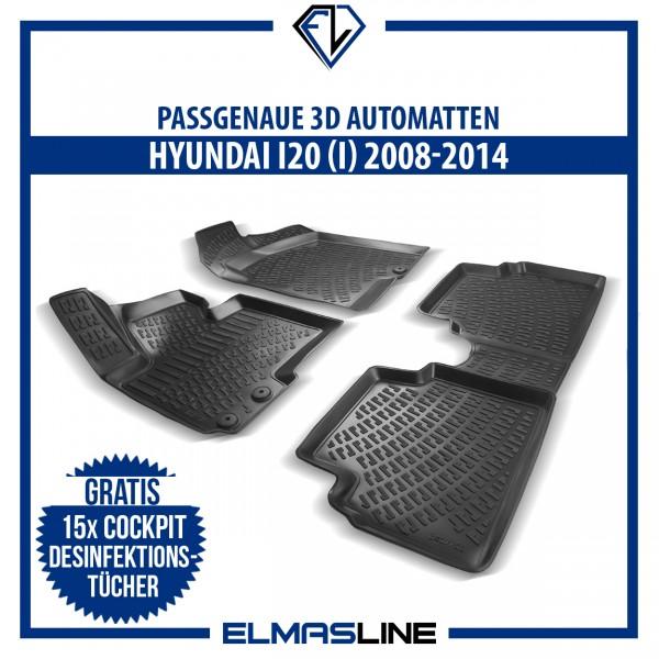 Design 3D Gummimatten Set für HYUNDAI I20 (I) 2008-2014