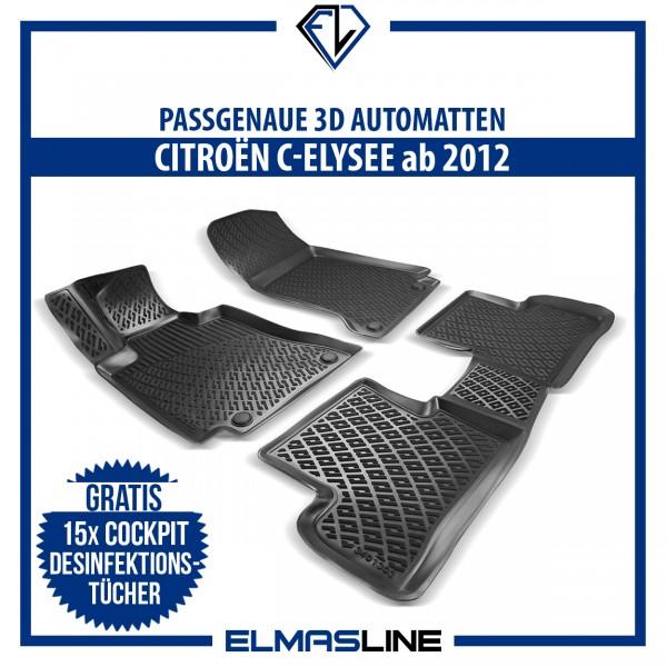 Design 3D Gummimatten Set für CITROËN C-ELYSEE ab 2012