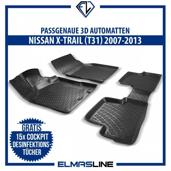 Design 3D Gummimatten Set für NISSAN X-TRAIL (T31) 2007-2013