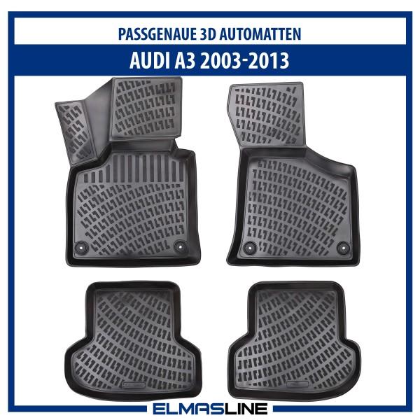 Design 3D Gummimatten Set für AUDI A3 2003-2013