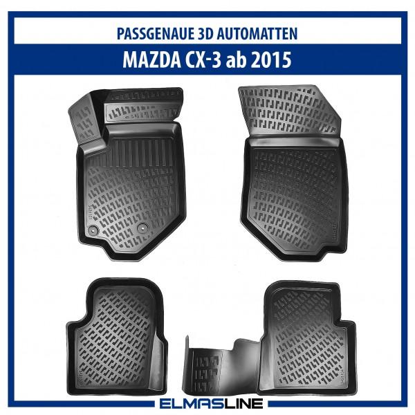Design 3D Gummimatten Set für MAZDA CX-3 ab 2015