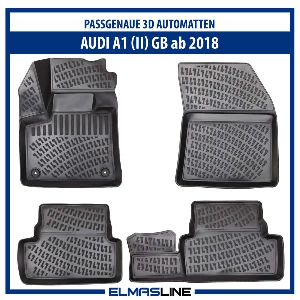 Design 3D Gummimatten Set für AUDI A1 (II) GB ab 2018