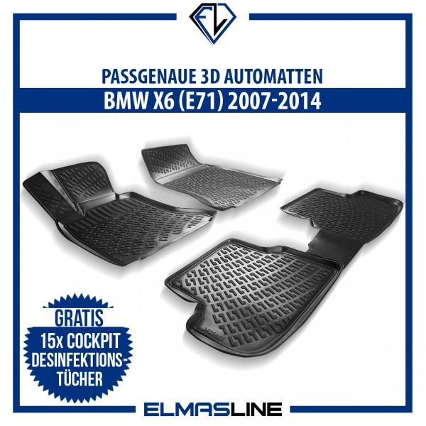 Design 3D Gummimatten Set für BMW X6 (E71) 2007-2014