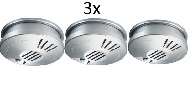 3x GEV FlammEX Profi Rauchmelder FMR Brandmelder Rauchwarnmelder Alarm EN 14604