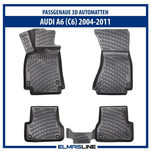 Design 3D Gummimatten Set für AUDI A6 (C6) 2004-2011